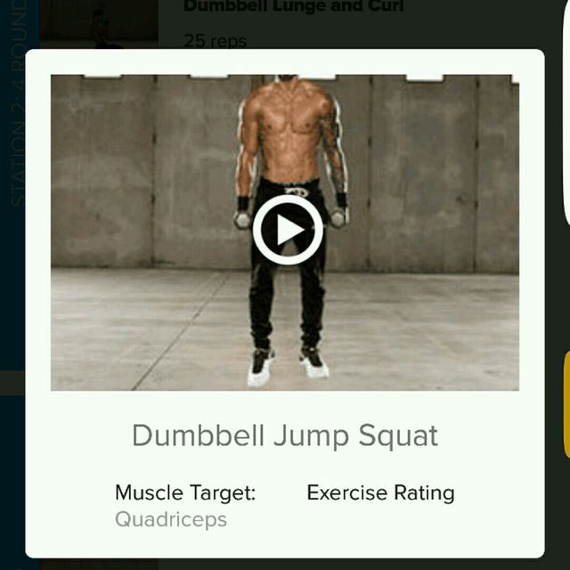 How to do: Dumbell Jump Squat - Step 1