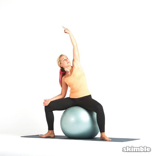 How to do: Goddess on Ball - Step 2