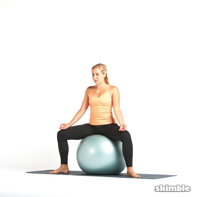 How to do: Goddess on Ball - Step 1