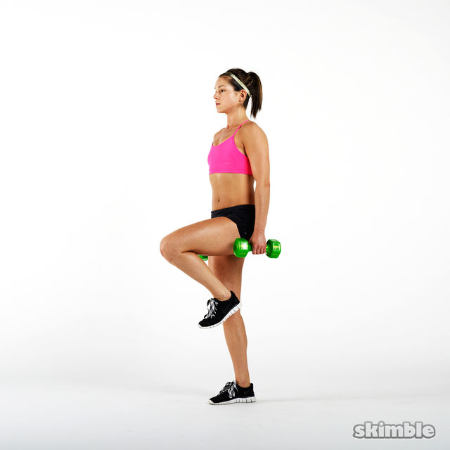 How to do: Dumbbell Single Leg Seesaws - Step 6
