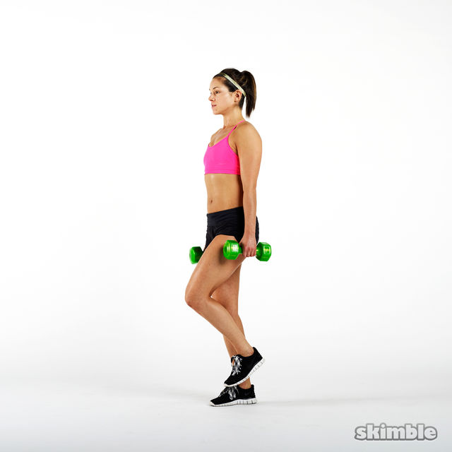How to do: Dumbbell Single Leg Seesaws - Step 4