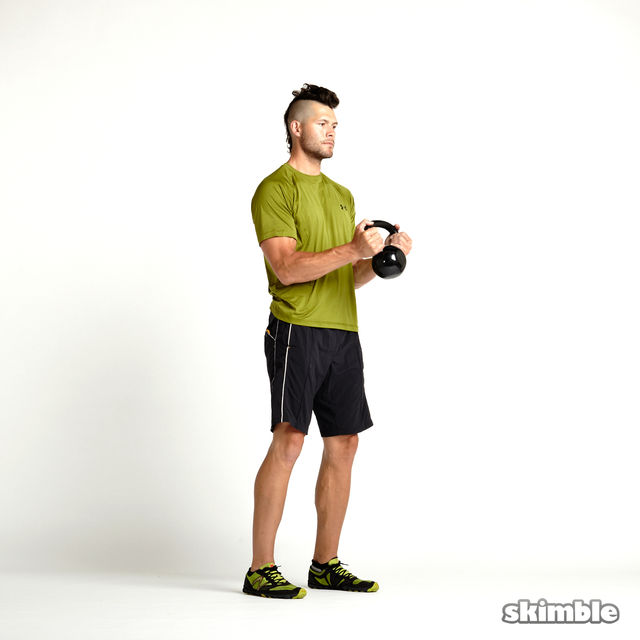 How to do: Kettlebell Hammer Curls - Step 3