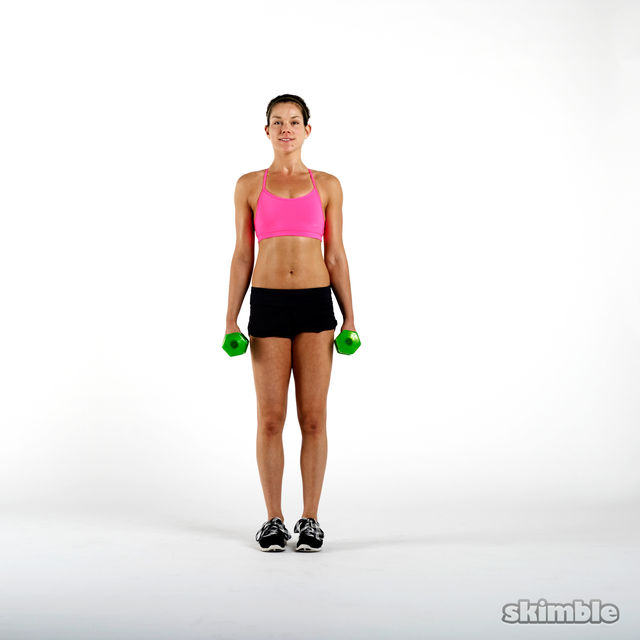 How to do: Dumbbell Side Lunge and Touch - Step 4