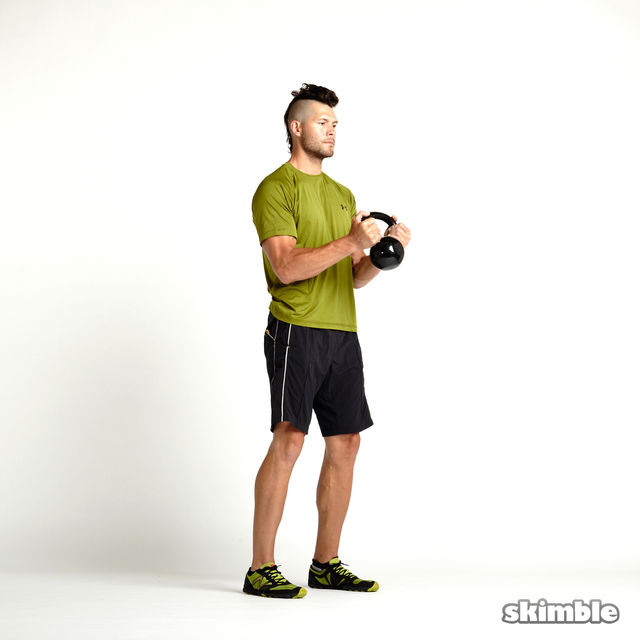 How to do: Kettlebell Hammer Curls - Step 1