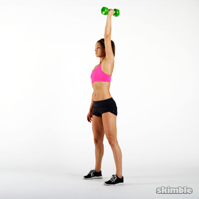 How to do: Single Arm Dumbbell Swings - Step 6