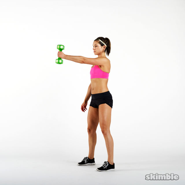 How to do: Single Arm Dumbbell Swings - Step 5