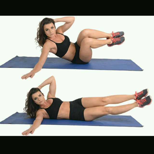 How to do: Left Side V Crunches - Step 1