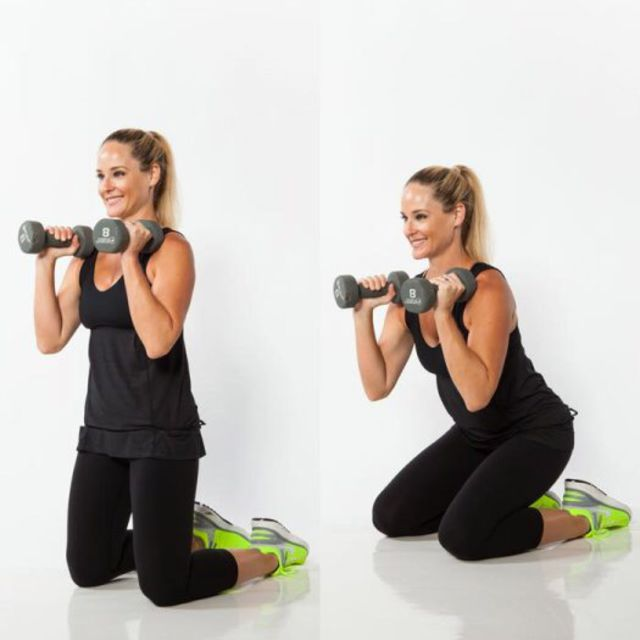 How to do: kneeling squat - Step 1