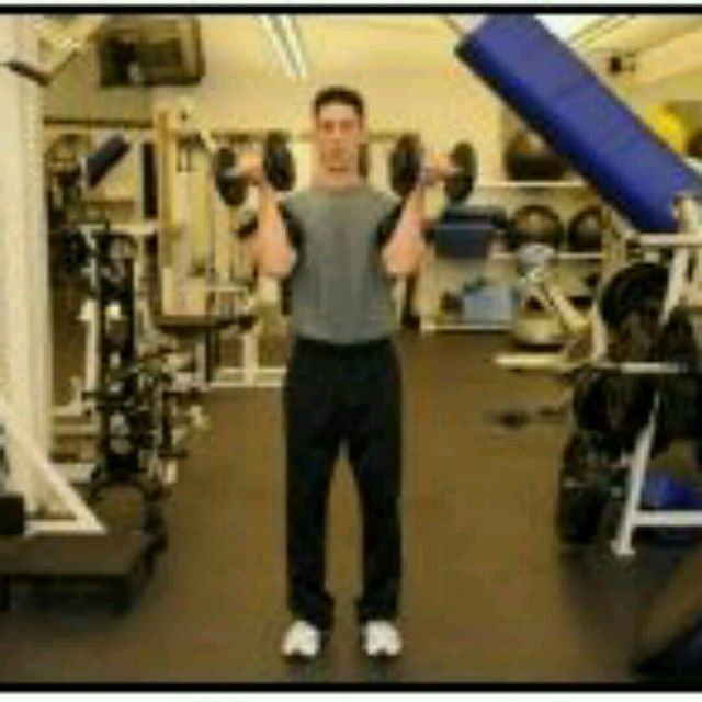 How to do: Rotational DB Shoulder Press - Step 1