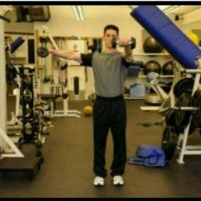 "How to do: Shoulder ""L"" Raises - Step 1"