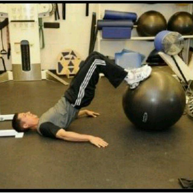 How to do: Physioball High Bridges - Step 2