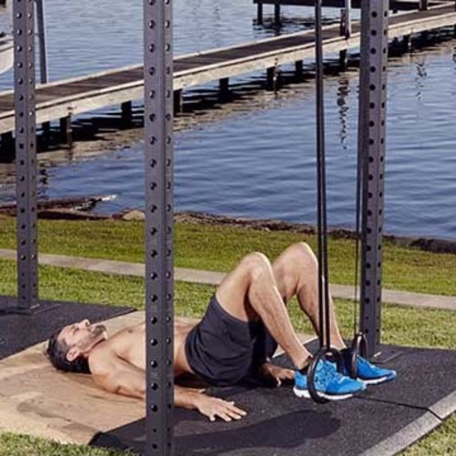 How to do: D Hamstring Bridge Curl - Step 1