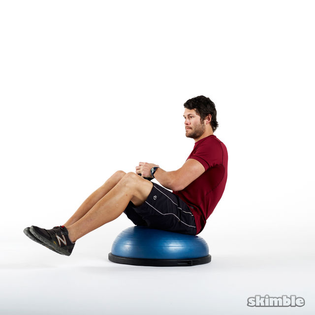 How to do: Weighted Russian Twists on BOSU - Step 1