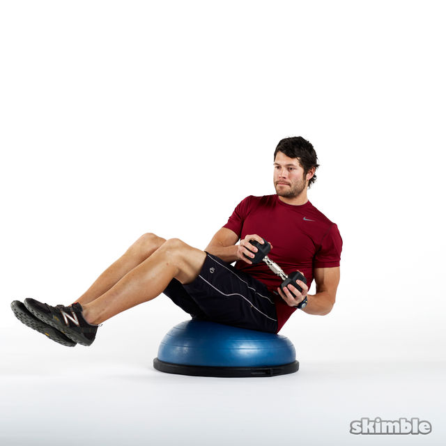 How to do: Weighted Russian Twists on BOSU - Step 2