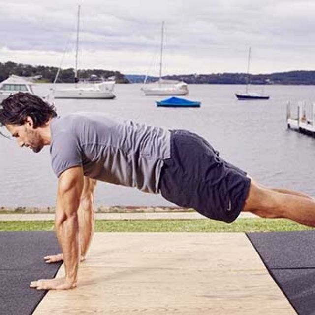 How to do: D Up Down Plank - Step 1