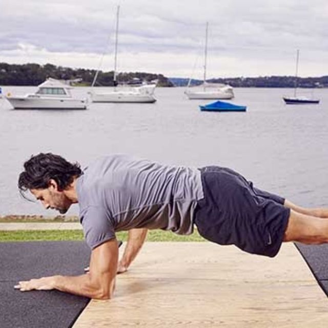 How to do: D Up Down Plank - Step 2
