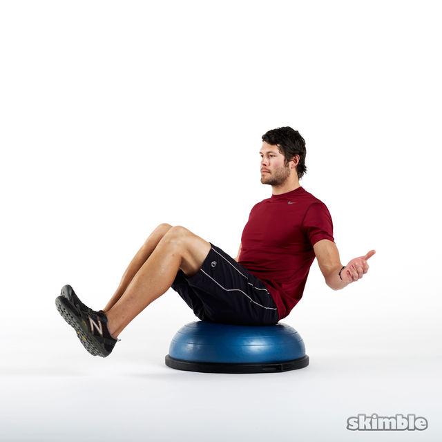 How to do: Seated BOSU Balance - Step 3