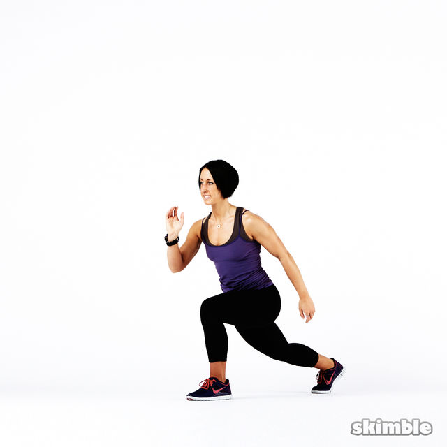 How to do: Plyo Lunges - Step 8