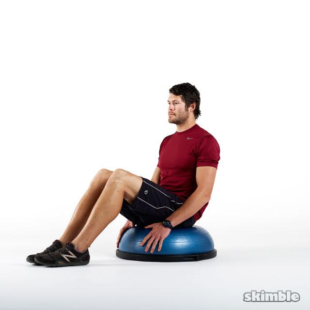 How to do: Seated BOSU Balance - Step 1