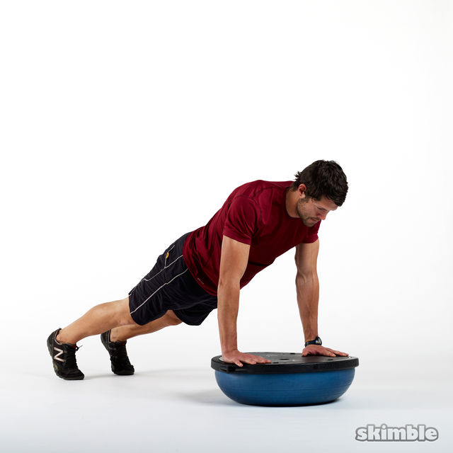 How to do: Plank on BOSU Back - Step 1