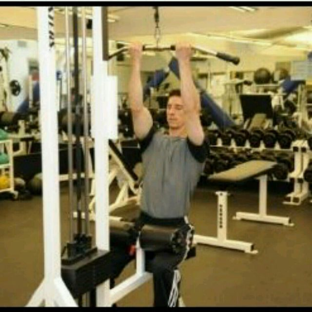How to do: Underhand Pulldowns - Step 1
