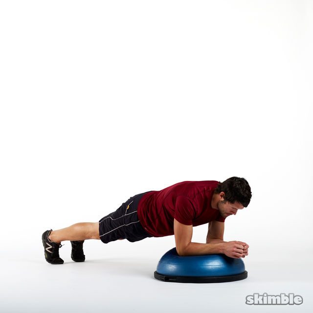 How to do: Elbow Plank on BOSU - Step 1
