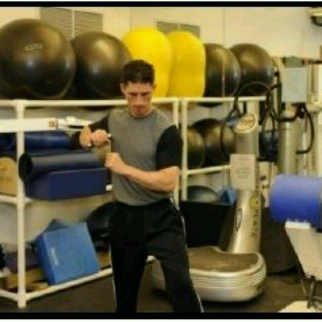 How to do: Cable Rotational Push Press - Step 1