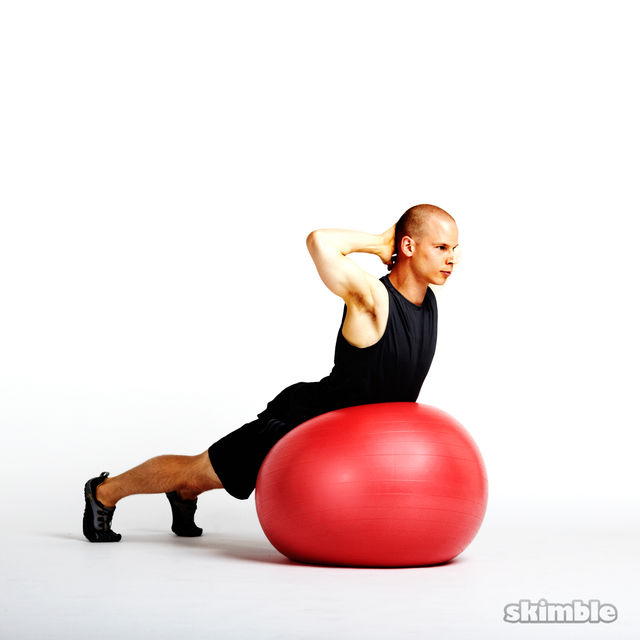 How to do: Ball Back Extensions - Step 2