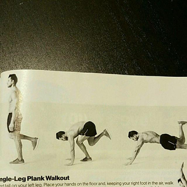 How to do: Single Leg Plank Walkout - Step 1