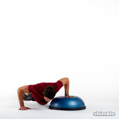 BOSU Left Offset Push-Ups