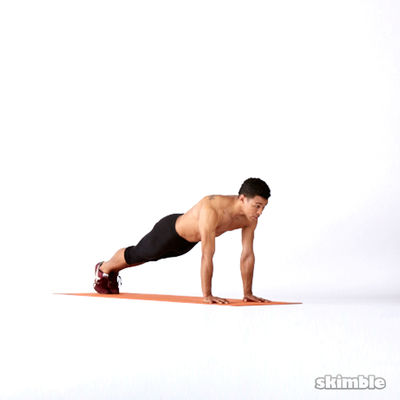 Plank with Arm Lifts