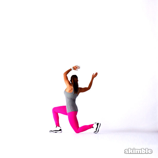 How to do: Twisting Lunges - Step 4