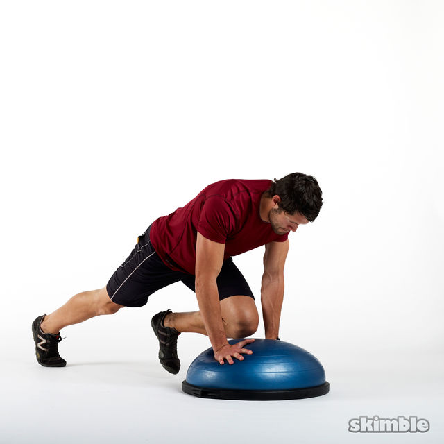 How to do: BOSU Mountain Climbers - Step 2