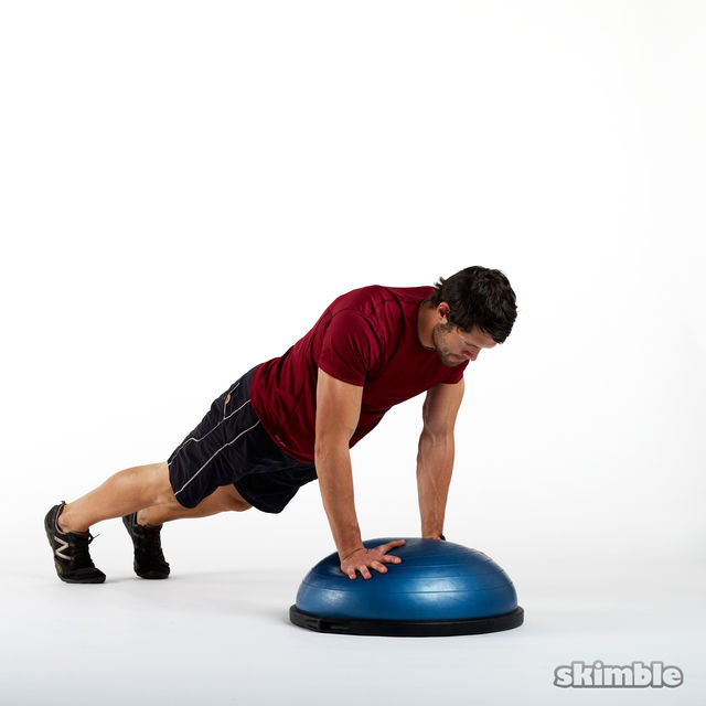 How to do: BOSU Mountain Climbers - Step 1