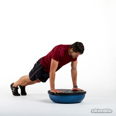 Mountain Climbers on BOSU Back