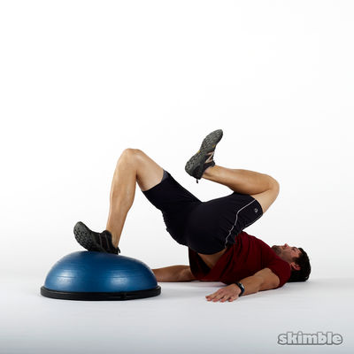 BOSU Right Leg Floor Bridges