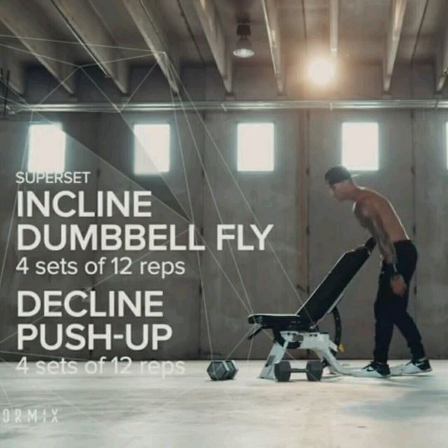 How to do: Incline Dumbell Fly - Step 1