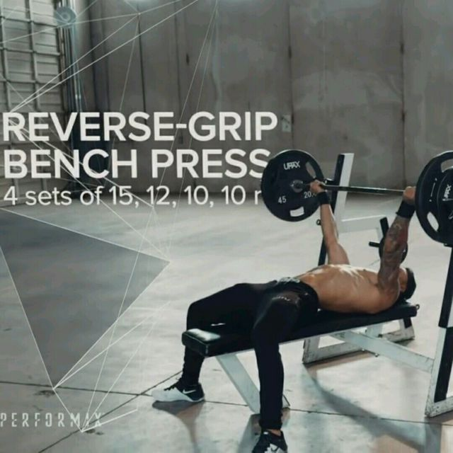 How to do: Reverse Triceps Bench Press - Step 1