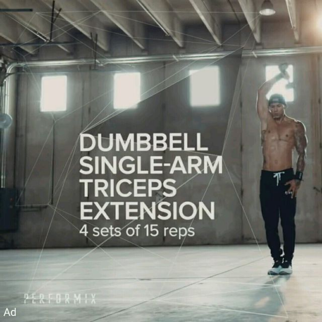How to do: Dumbell One Arm Tricep Extension - Step 1