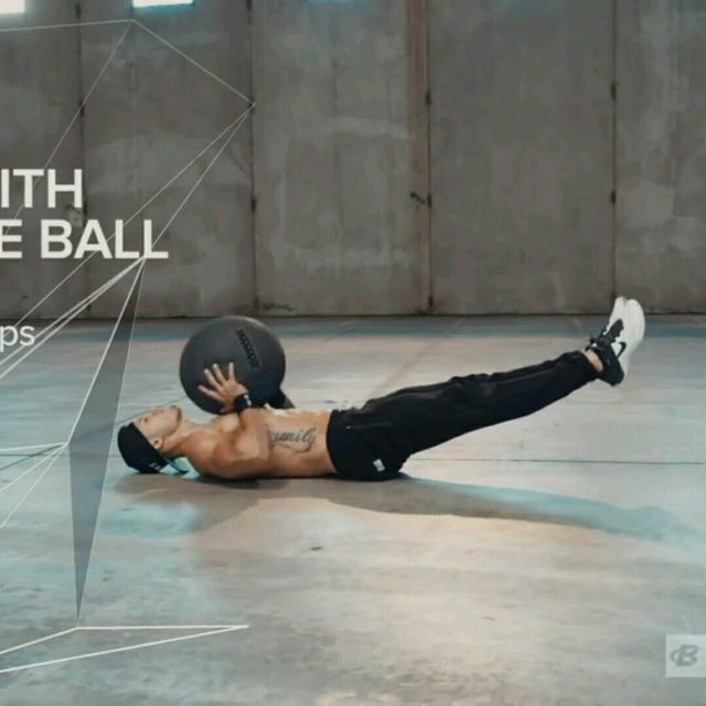 How to do: V-Sit Lying Down Ball Throw And Catch - Step 2