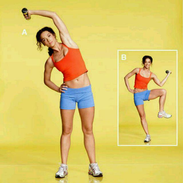 How to do: Standing Oblique Crunch - Step 1