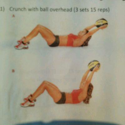 Crunch With Ball Overhead