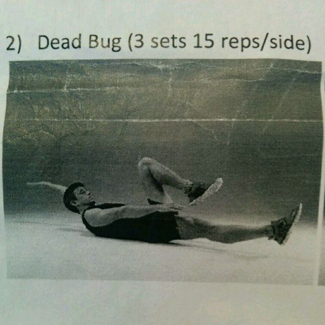 How to do: Dead Bug - Step 1