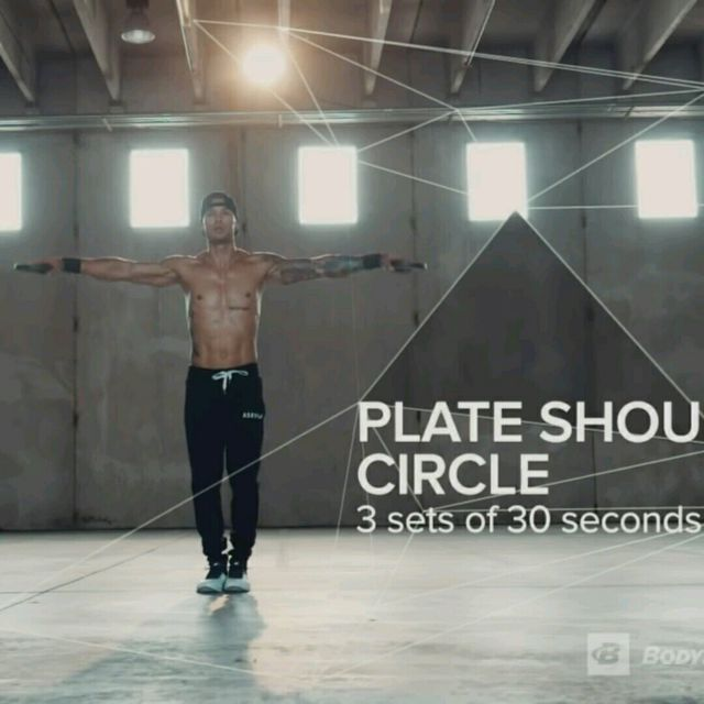 How to do: Plate Shoulder Circle Big To Small Rotation - Step 1