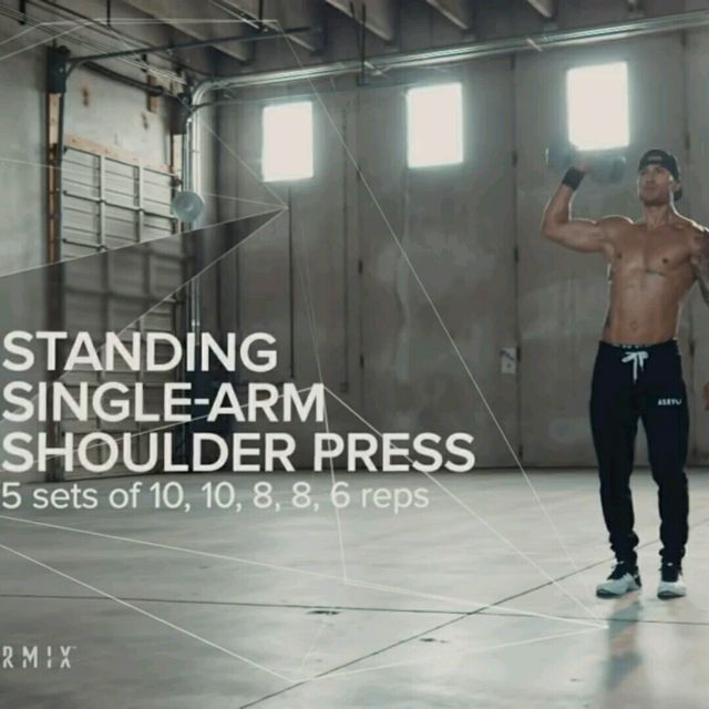 How to do: Dumbell One Arm Shoulder Press - Step 1