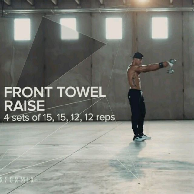 How to do: Front Towel Raises - Step 1