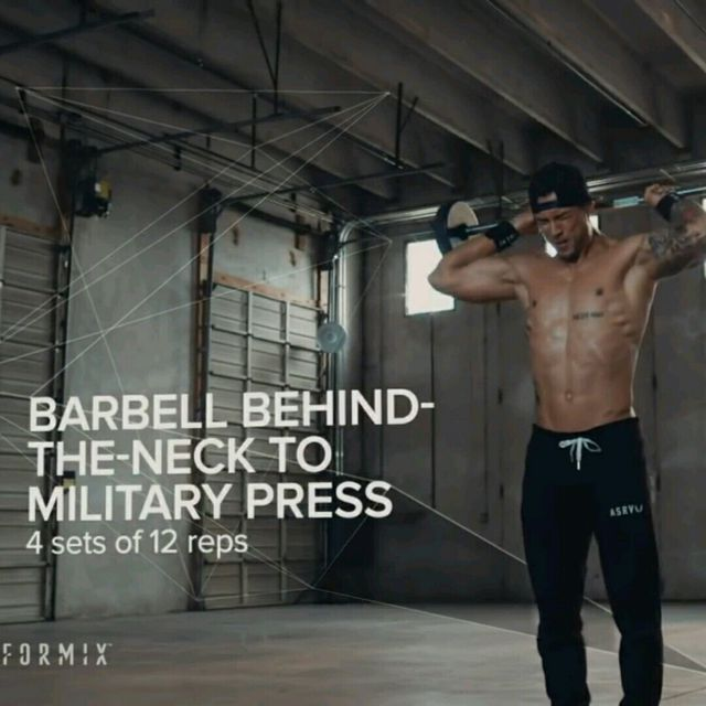 How to do: Behind the Neck To Military Press - Step 1