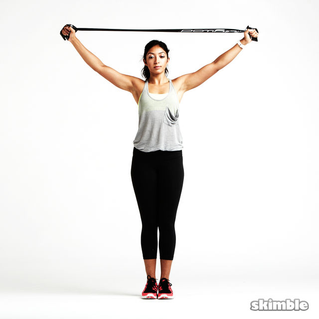 Shoulder Opener With Band Exercise How To Workout Trainer By Skimble