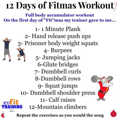 16-Minute Abs and/or 12 Days Of FITmas Workout.
