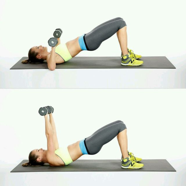 How to do: Bridge With Chest Press - Step 1
